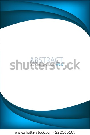 Blue and background with dimension overlap layer curve on white space background for text and message design - stock vector