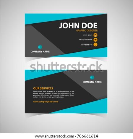 Blue black elegant business card template stock vector 2018 blue and black elegant business card template flashek Image collections