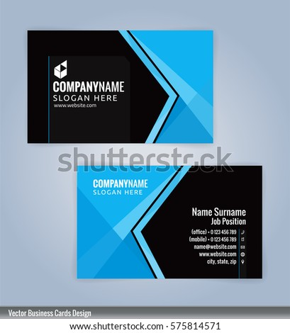Blue black modern business card template stock vector royalty free blue and black modern business card template illustration vector 10 wajeb Choice Image