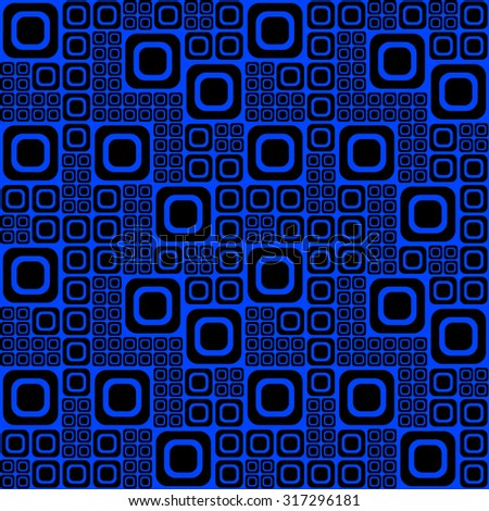 Blue and Black Op-Art Pattern - stock vector