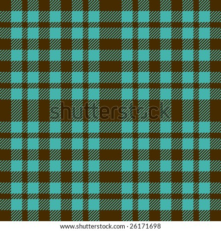 Blue and brown seamless plaid pattern