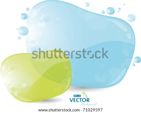 Blue and green background, eps-10 - stock vector