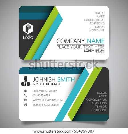 Blue green modern creative business card em vetor stock 554959387 blue and green modern creative business card and name cardhorizontal simple clean template vector reheart Gallery