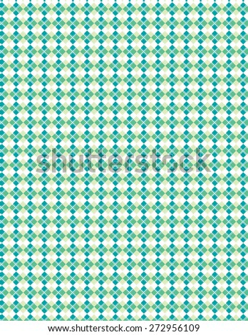 Blue and green pattern over white color background - stock vector