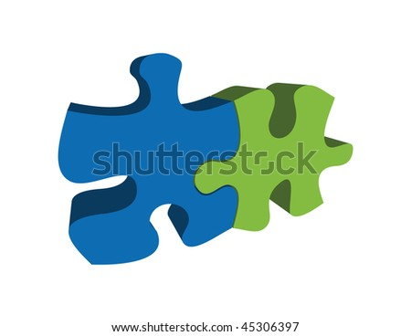 blue and green vector abstract image