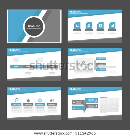 Blue and grey  multipurpose infographic element and icon  presentation template flat design set for brochure flyer advertising and marketing - stock vector