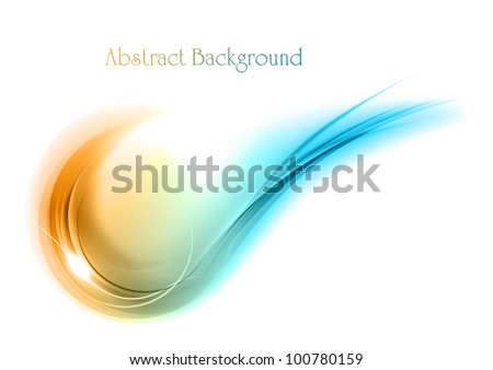 blue and orange abstract shape - stock vector
