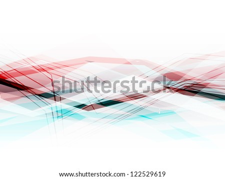 Blue and pink abstract business horizontal background with moving lines. Eps10 - stock vector