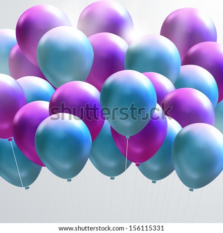 Blue and purple balloons