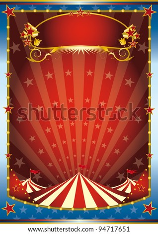 blue and red circus background. a circus background. Read your message. See another illustrations like this on my portfolio. - stock vector