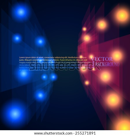 blue and red rays abstract mosaic perspective background