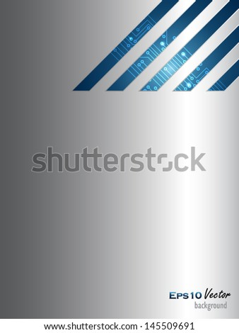 Blue and silver abstract background - stock vector