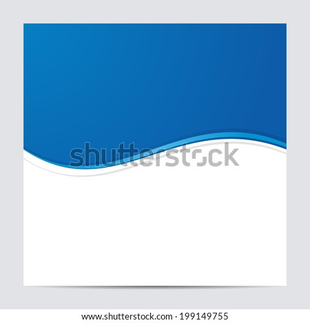 Blue and White Blank Abstract Background. Vector illustration - stock vector