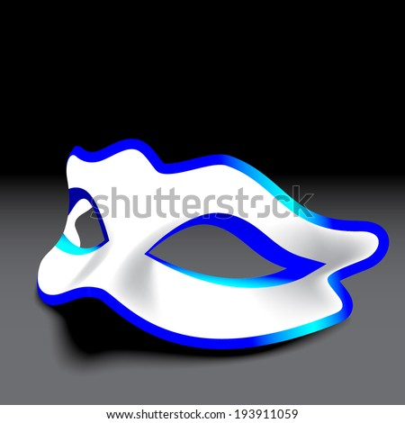 Blue and white carnival mask  - stock vector