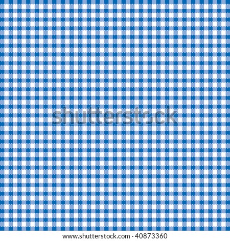 Blue and white popular background pattern for picnics - stock vector