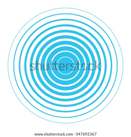 blue white rings sound wave wallpaper stock vector