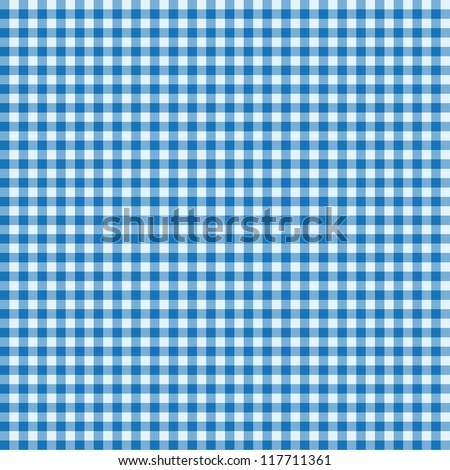Blue and white seamless tablecloth - stock vector