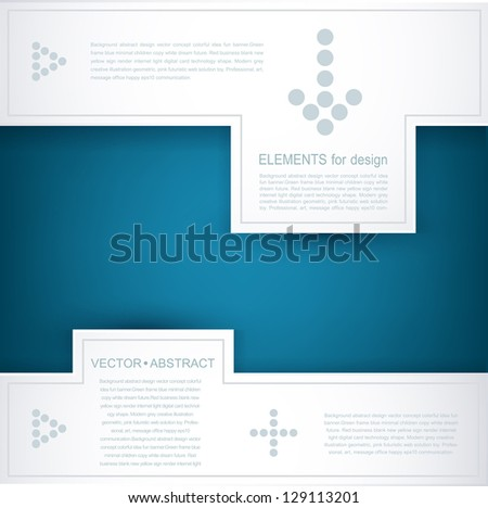 blue and white vector background (design element for business) - stock vector