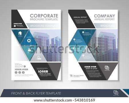 Cover Design Annual Report Catalog Magazine Vector 423156628 – Annual Report Brochure