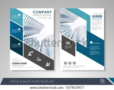 Blue Annual Report Brochure Flyer Design Stock Vector
