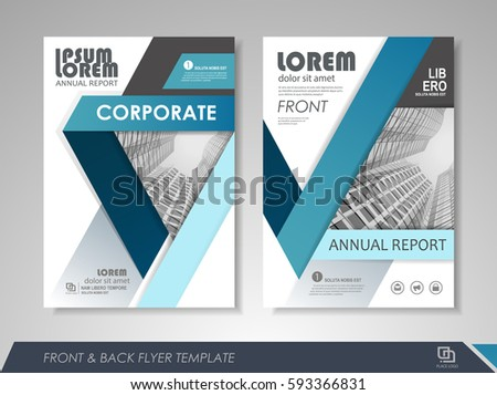 Front Back Page Annual Report Brochure Stock Vector 507220969
