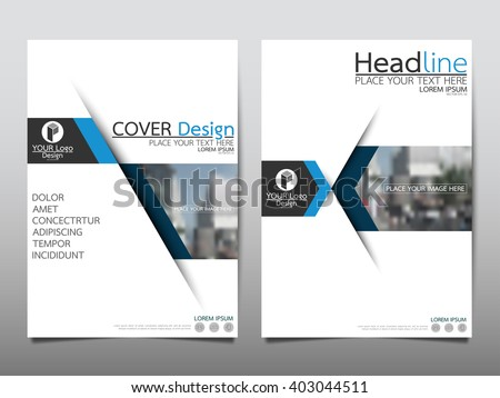 Blue annual report brochure flyer design template vector, Leaflet cover presentation abstract flat background, layout in A4 size - stock vector