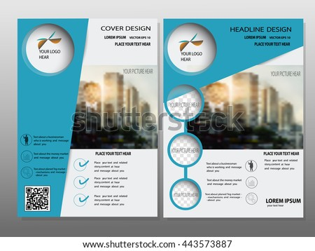 Blue Annual Report Brochure Modern Flyer Design Stock Vector