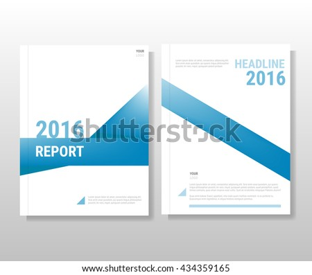 Blue annual report Leaflet Brochure Flyer template A4 size design, book cover layout design, Abstract yellow presentation templates