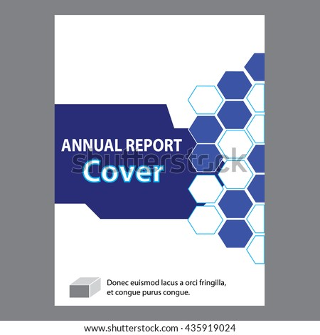 blue annual report title page sample stock vector royalty free