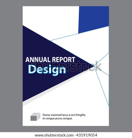 Blue Annual Report Title Page Sample Stock Vector 435919054