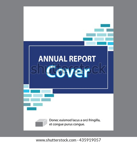 Blue Annual Report Title Page Sample Stock Vector 435919057