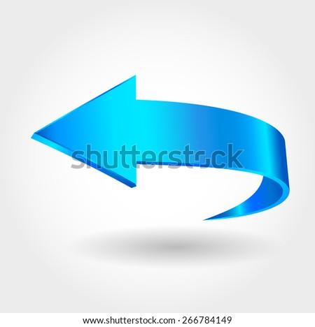 Blue arrow - stock vector