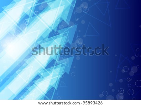 blue arrow abstract background