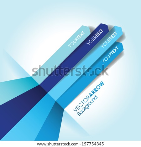 blue arrow line background - stock vector