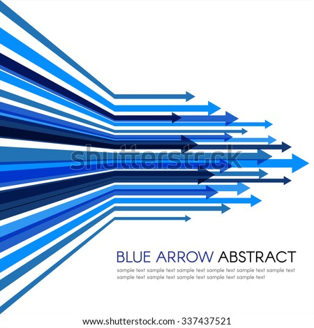 Blue arrow line sharp vector abstract background - stock vector