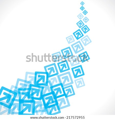blue arrow move up background vector - stock vector