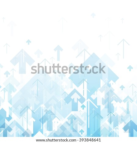 Blue Arrows Up Abstract background - stock vector