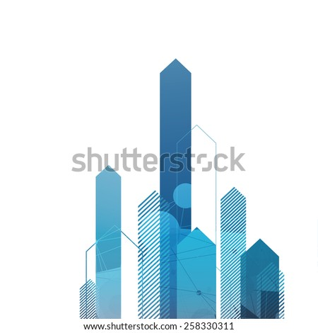 Blue Arrows Up. Successful Concept Cover - stock vector