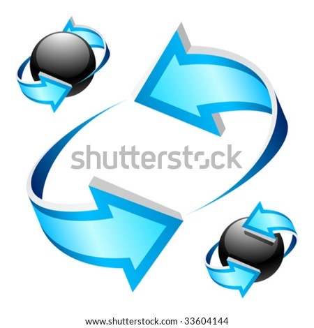 Blue arrows. Vector. Use it in different ways. - stock vector
