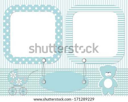 Blue baby photo frames