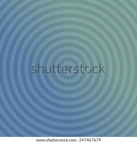 Blue background design with concentric circles - stock vector