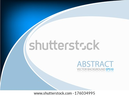 Blue background graphic curve line for text and message modern web design - stock vector