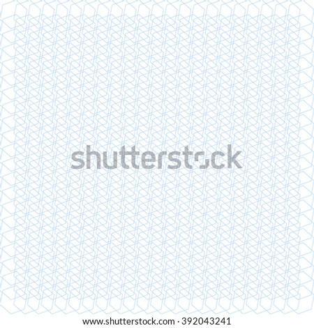 Blue background, texture. Zigzags, polygons. Guilloche. It can be used as background for certificates, diplomas, banknotes. - stock vector