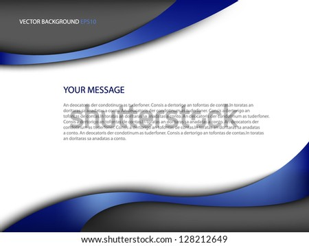 blue background vector eps10 modern curve and space for message and text web design - stock vector