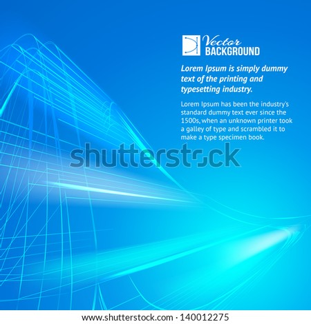 Blue background. Vector illustration, contains transparencies, gradients and effects. - stock vector