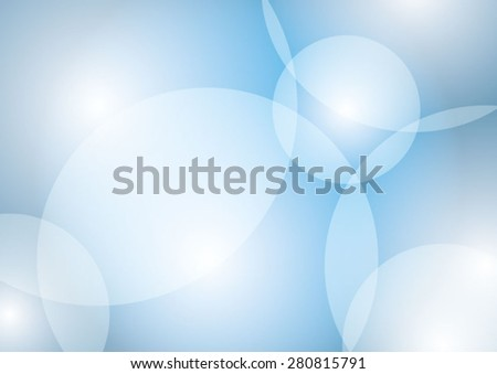 Blue background with abstract circles
