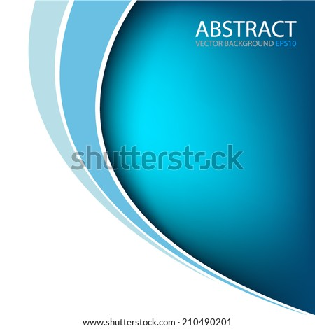 Blue background with curve line on white background for text and message modern website design , vector - stock vector