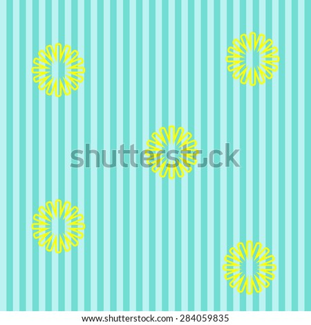 Blue background with dandelions - stock vector