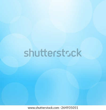 Blue background with defocused lights - Vector - stock vector