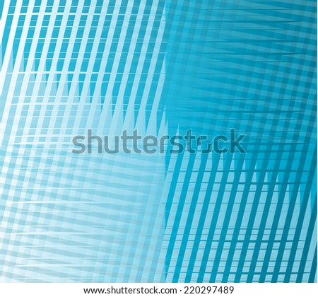 Blue background with grid strips texture pattern - stock vector
